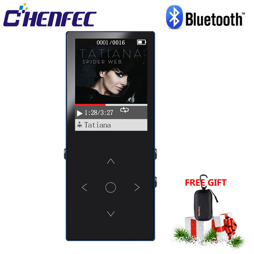 2019 New 16GB Metal MP3 Player With Bluetooth4.0Touch Button 1.8 Inch Screen HIFI Music Player With FM,E-book,TF Card Up To 64GB