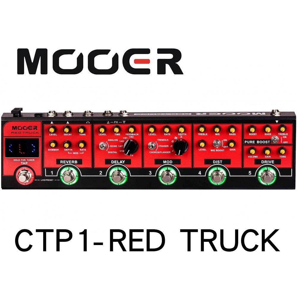 MOOER CPT1 pédale d'effet Overdrive combinée camion rouge avec pédale accordeur de guitare de précision