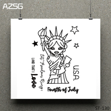 Statue of Liberty Clear Stamps/seal for DIY Scrapbooking/Card Making/Photo Album Decoration Supplies