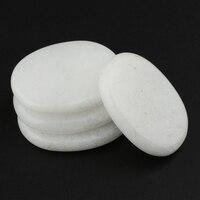 Piedras de masaje blancas lisas, piedras naturales para Spa de Forma ovalada, relajación y más (3x4CM), 4 Uds.