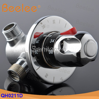 Free Shipping 1 2 Brass Thermostatic Shower Mixer Valve Automatic Thermostatic Valve For Solar Electrical Water