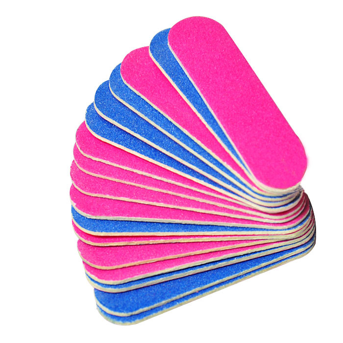 Biutee 50 100 PCS lots Mini Nail Files Sandpaper Buffers Slim Crescent Grit 180 240 Disposable Sanding Buffer Manicure Tools in Nail Files Buffers from Beauty Health