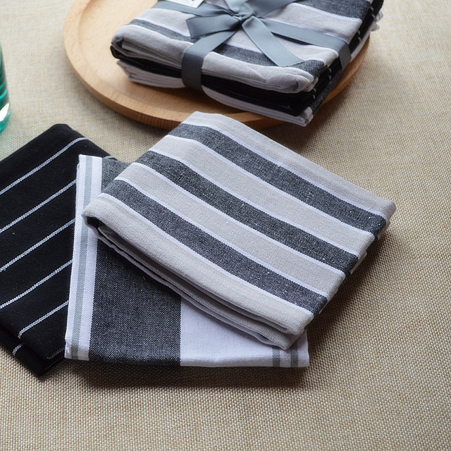3pcs Pack French Design Fashion Kitchen Tea Dish Towels Placemats