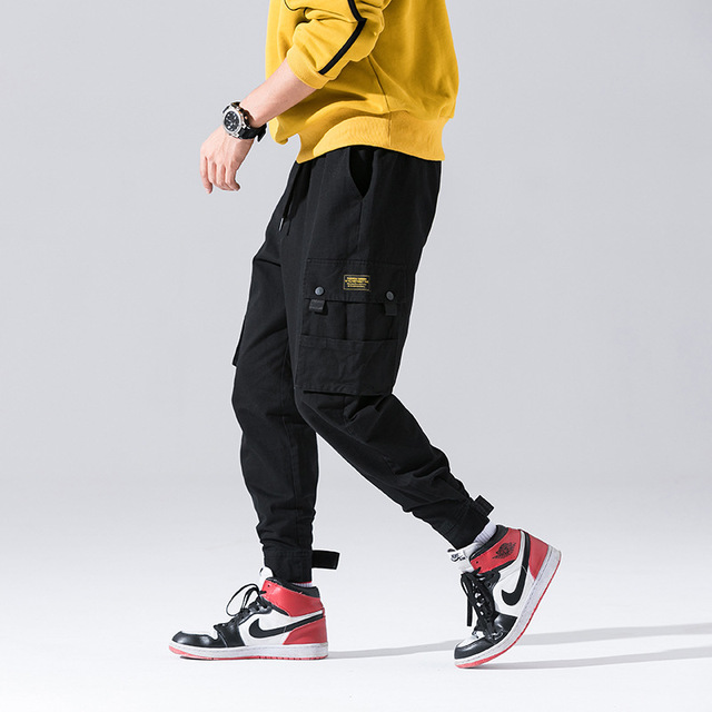 e712b8ac Fashion Japanese Style Jogger Pants Men Jeans Streetwear Loose Fit Hip Hop  Trousers Camouflage Military Big