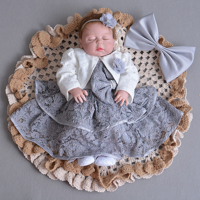 Gray Baby Girl Dresses Jacket Angel 1 Year Old Birthday Party Vestido 2018 Infant Toddler