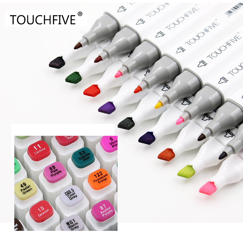Marker for Animation Sketch drawing Art Markers Pen Set 30/40/60/80/168Color Dual Head Brush pen Alcohol based markers TouchFive