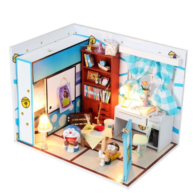 3D DIY Handmade Dolls House Toys Princess Room With Furniture Doll Family 2  LED Light Dream