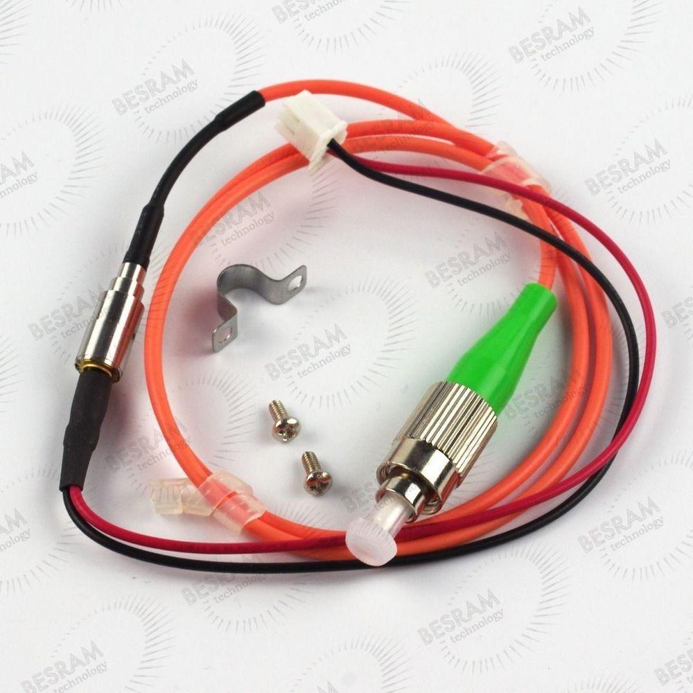 658nm 5mw 62.5/125um FC/APC Red Laser Pigtail Fiber Diode Module 12VDC TTL 1m fat beam 60mw 532nm laser diode module w ttl