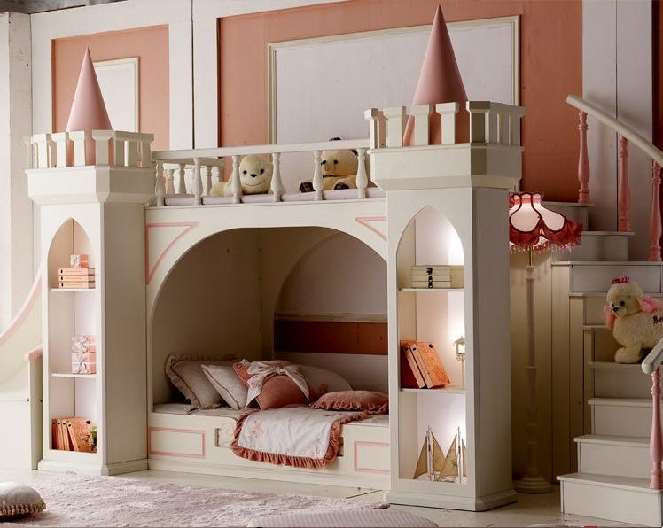 Charmant High End Childrenu0027s Bunk Bed Wood Bedroom Furniture Princess Fairy Kingdom  Paternity Bed Bunk Bed Height In Children Furniture Sets From Furniture On  ...