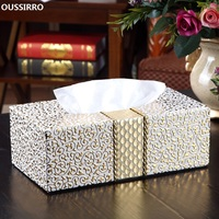 NEW PU Leather Car Home Rectangle Shaped Tissue Box Fashion Elegant Household living Room Desktop Towel Napkin Tissue Holder