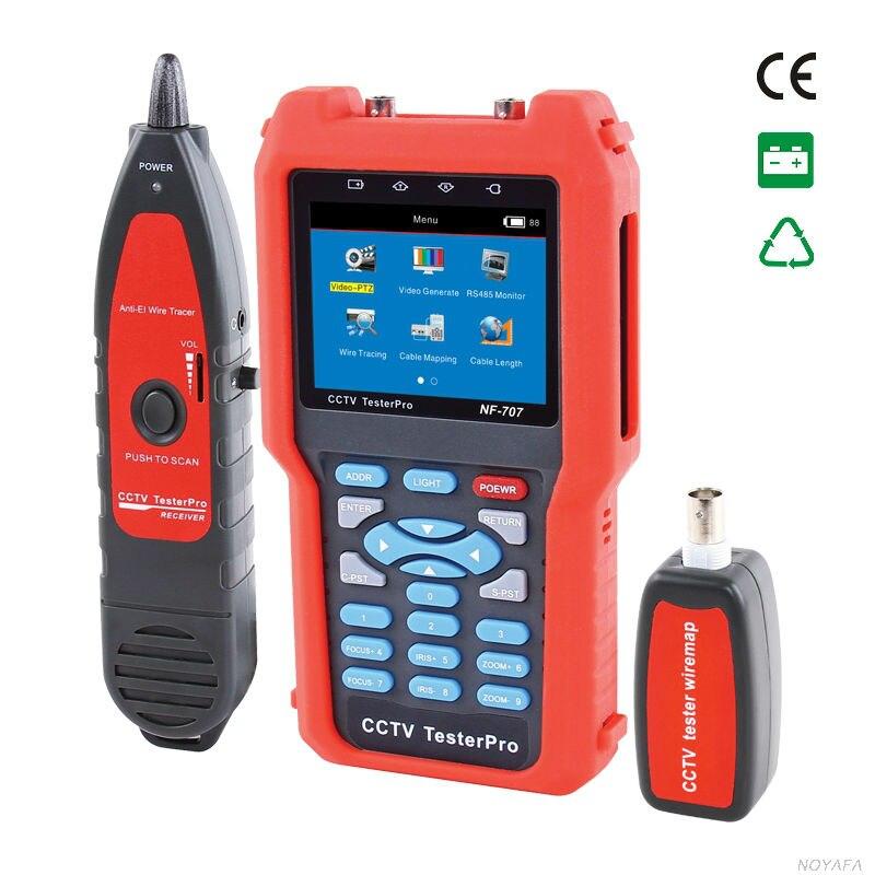 NOYAFA NF-707 Аналоговый и CVBS сигнала и видео сигнала тестер с Кабельный тестер tracker измеритель оптической мощности для проверки потери волокна