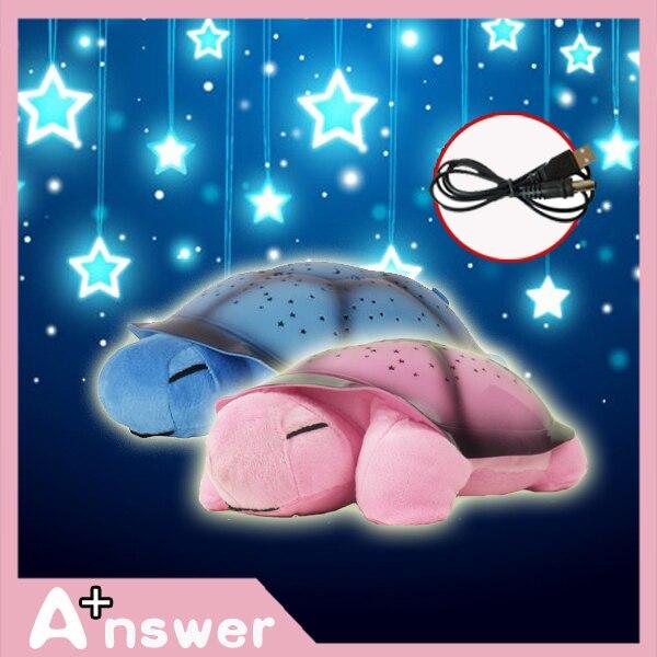 4 видов цвет помочь ребенку спать Музыкальный LED Черепаха Свет Мигающий Зондирования Звезд Созвездия Лампы мини проектор детские игрушки