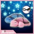4 clases de color ayuda del sueño del bebé Musical LED Tortuga Luz Estrellas Constelación de La Lámpara Intermitente Sounding mini proyector de juguete para niños