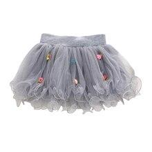 Мини-юбки принцессы бальное вечеринку ну новых юбки цветок кружева девушки платье