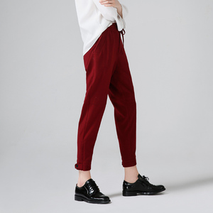 Image 3 - Toyouth Harem Pants Women 2019 Summer Loose Pants Femme Mid Wasit Ankle Length Trousers With Drawstrings