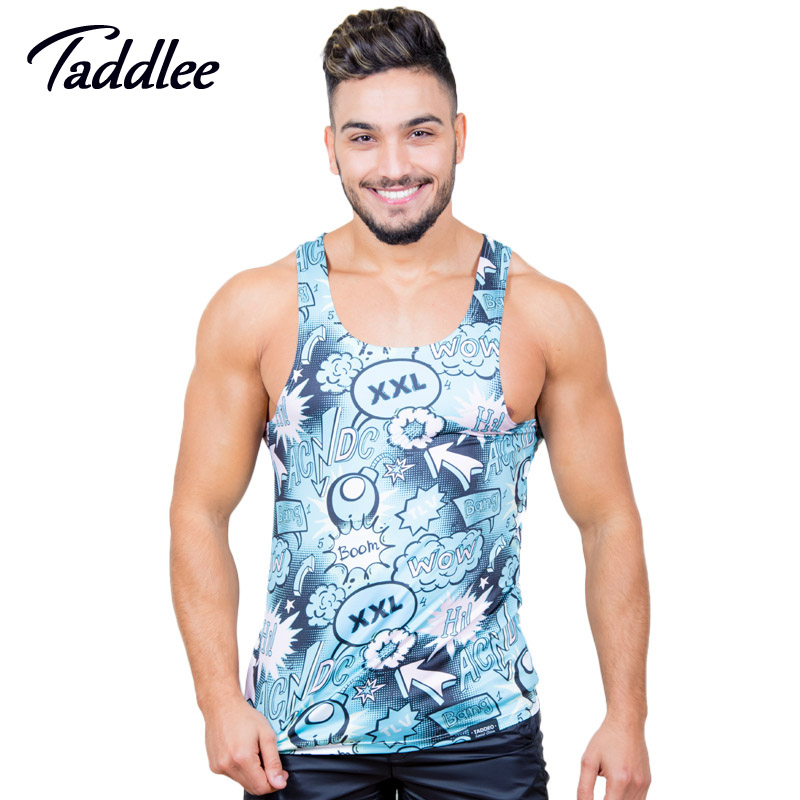Taddlee brand men tank top singlets muscle sexy fashion for Top dress shirt brands