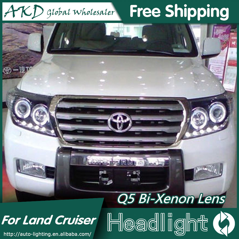 AKD Car Styling for Toyota Land Cruiser Headlights 2008-2014 LED Headlight DRL Bi Xenon Lens High Low Beam Parking Fog Lamp akd car styling for nissan teana led headlights 2008 2012 altima led headlight led drl bi xenon lens high low beam parking