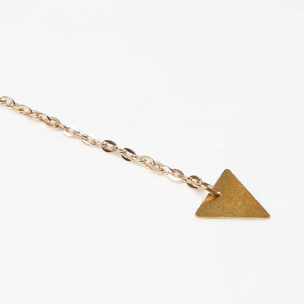 New Vintage Vàng Màu Necklace Chain Jewelery Thời Trang Cho Phụ Nữ Triangle Tassel Vòng Tua Neckless Phụ Nữ