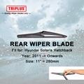 """Lâmina de Limpador traseiro para Hyundai Solaris (2011-Onwards) 1 pc 11 """", monitor Do Carro Traseiro Brisas, de Volta janela Pára Wiper Blades"""
