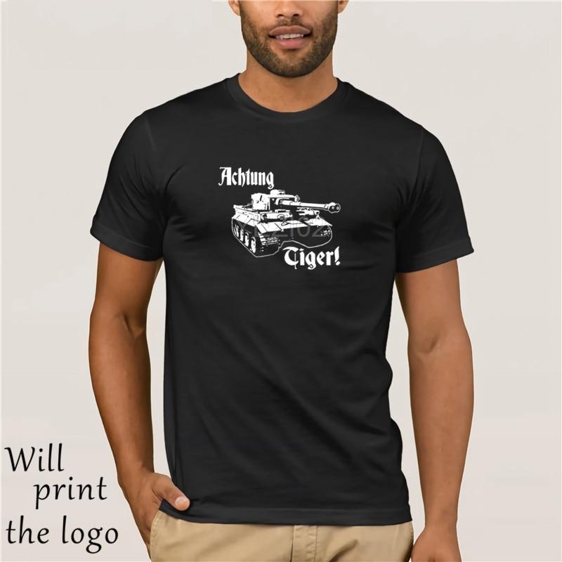 T-shirts Tops & Tees Obliging Gildan Mens Achtung Tiger Ww2 German Deutschland Wehrmacht Panzer Tank Black Tee Shirt World Of War 2 Military Armour T-shirt Waterproof Shock-Resistant And Antimagnetic