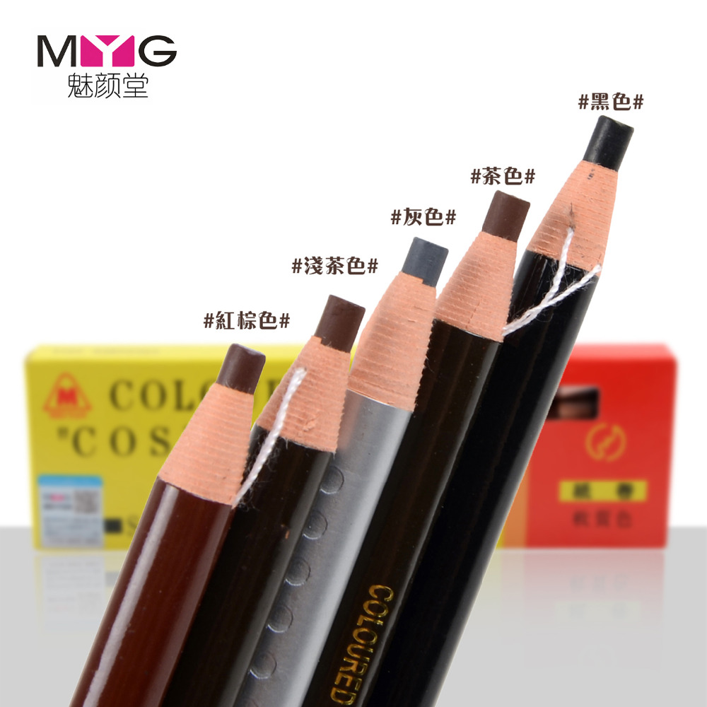 MYG 1818 arrows Eyebrow pencil Waterproof Longlasting Eye Brow Liner Shapper Eyebrow Enhancer Pencil Makeup Pen Free Shipping
