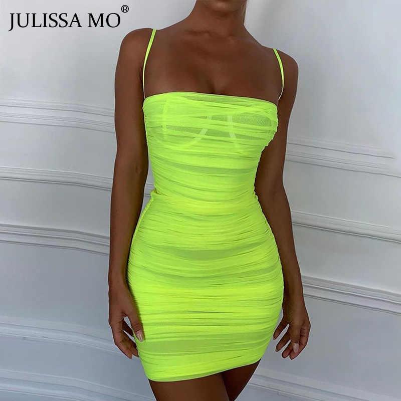 JULISSA MO двойное Эротическое белье летнее платье для женщин на бретельках с открытой спиной Короткие платья драпированные пляжные вечерние платья