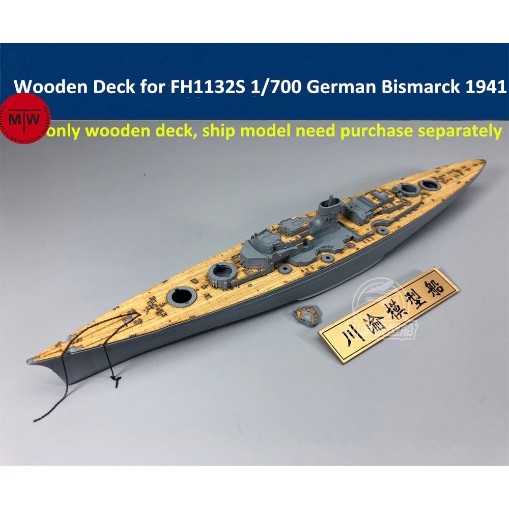 1/700 Scale Wooden Deck For Flyhawk FH1132S German Battleship Bismarck 1941 CY700044