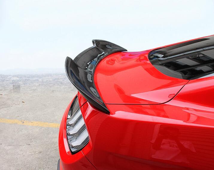 Fibra de carbono/ABS CAR SPOILER TRASEIRO ASA TRONCO LÁBIO Duplo Deck PARA Ford Mustang 2015 2016 2017 2018 2019