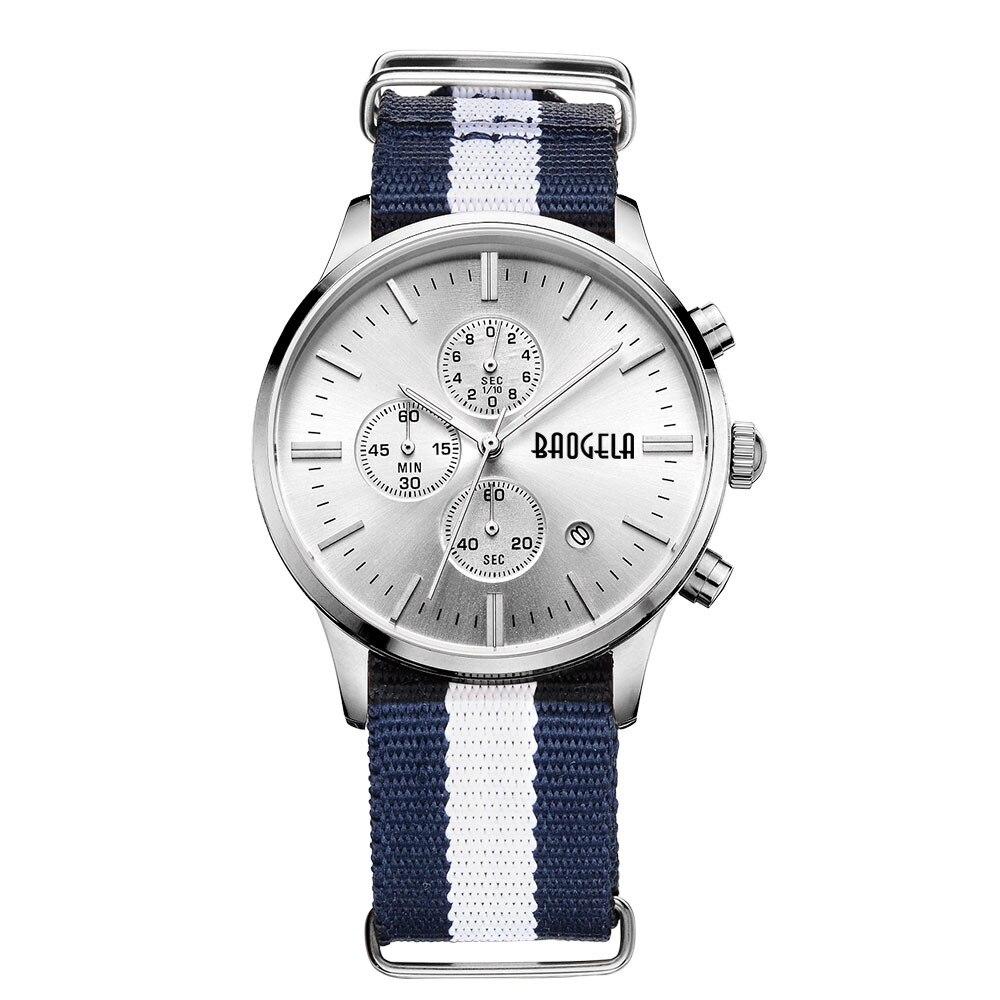 BAOGELA Top Luxusmarke Männer Uhren zegarki mens-quarz-sport-armbanduhren meskie Sport Analog Quarz Armbanduhr Klassische nylon Männer uhr relogio masculino