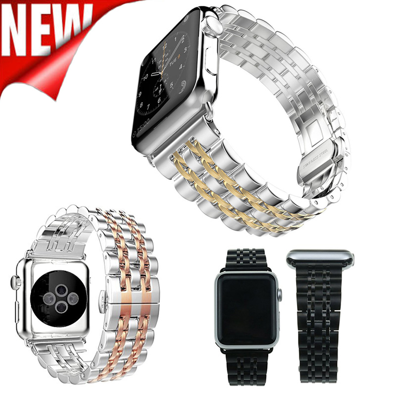 For Apple Watch Strap Link strap Stainless Steel Band 38mm 42mm watchband Smart Watch Metal Band for iWatch Series 3 2 1 new arrival diamond stainless steel band for apple watch band strap link bracelet 38mm 42mm smart watch metal band for iwatch
