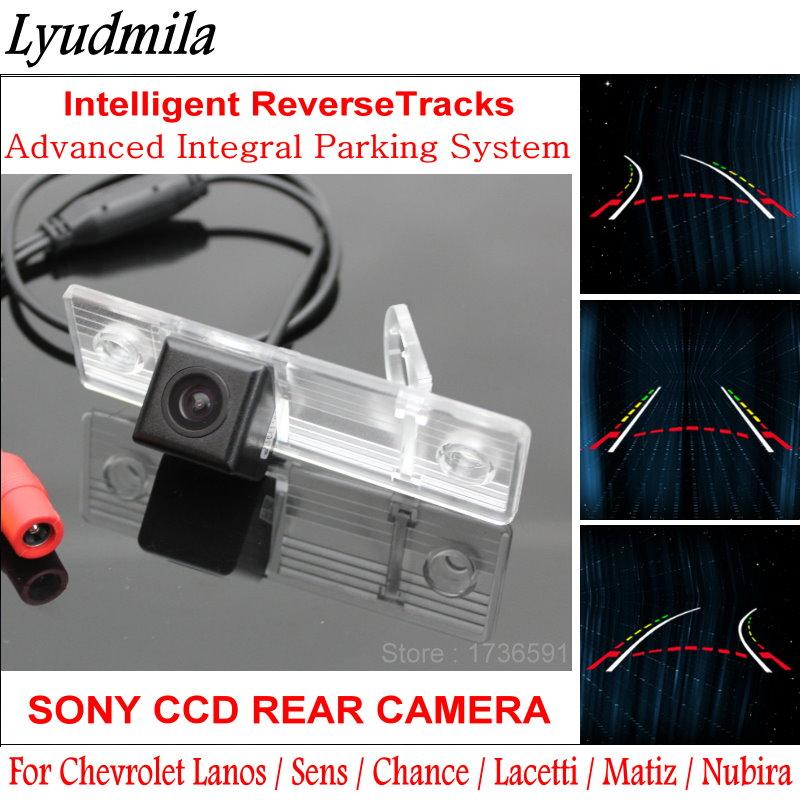 Lyudmila caméra de recul arrière de voiture pour Chevrolet Lanos Sens Chance Lacetti Matiz Nubira lignes de stationnement voies intelligentes