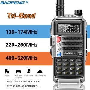 Image 3 - ثلاثي الفرقة راديو BaoFeng UV S9 8W عالية الطاقة 136 174 Mhz/220 260 Mhz/ 400 520Mhz اسلكية تخاطب الهواة يده هام اتجاهين الراديو