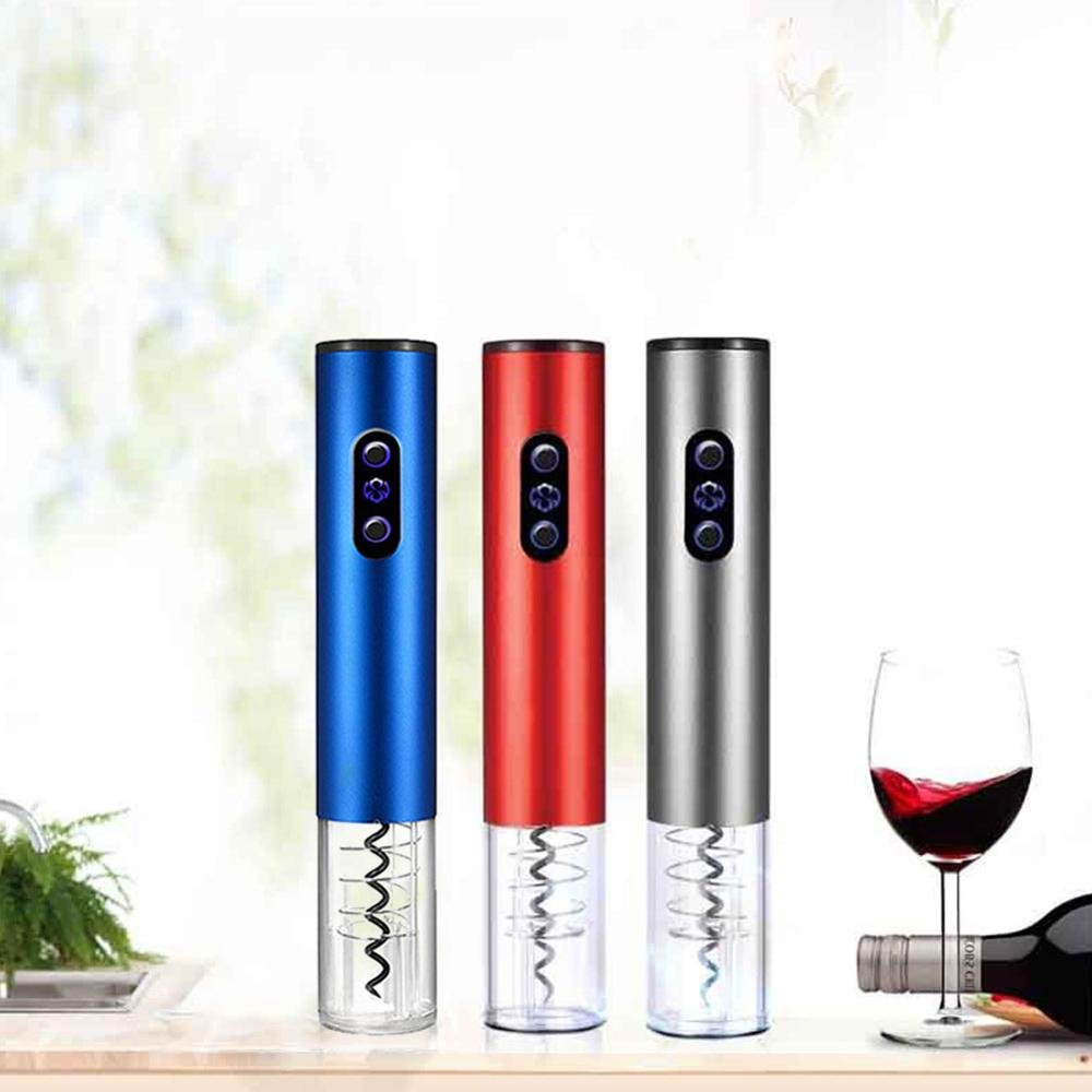 Electric Wine Opener Aluminum Alloy Cordless Corkscrew Easily Pouring Food-grade Screw Open The Wine In 6 - 8 Seconds 3 Color