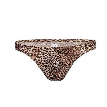 Leopard G String Thongs Men Bulge Mens Underwear Penis Pouch Sexy Gay Lingerie T Back Bikini Swimwear Panties Low Rise XXXL цена 2017