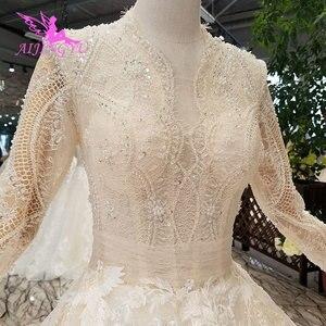 Image 2 - AIJINGYU Wedding Dresses Bridal Gown Vintage Lace Off the Shoulder India Plus Size Modest Gown Vintage Bride Dress