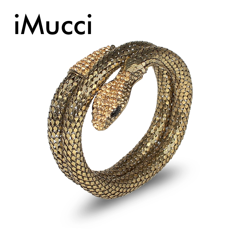 iMucci Stage Performance Accessories Vintage Colored Snake-Like Segmented Bracelet Exotic Bellydance Dress Costumes Bangle
