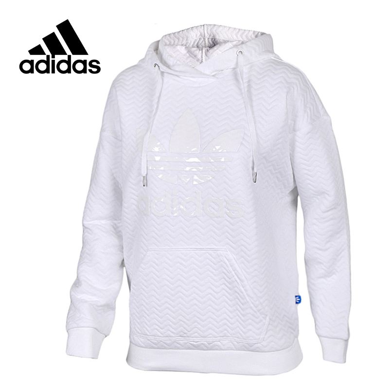 Original New Arrival Official Adidas Originals Women's Hooded Pullover Jerseys Leisure Sportswear adidas original new arrival official women s tight elastic waist full length pants sportswear aj8153