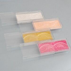 Image 2 - 400pcs Wholesale Acrylic False Eyelashes Packaging Box custom logo Fake 3d Mink lashes Box Faux Cils transparent plastic case