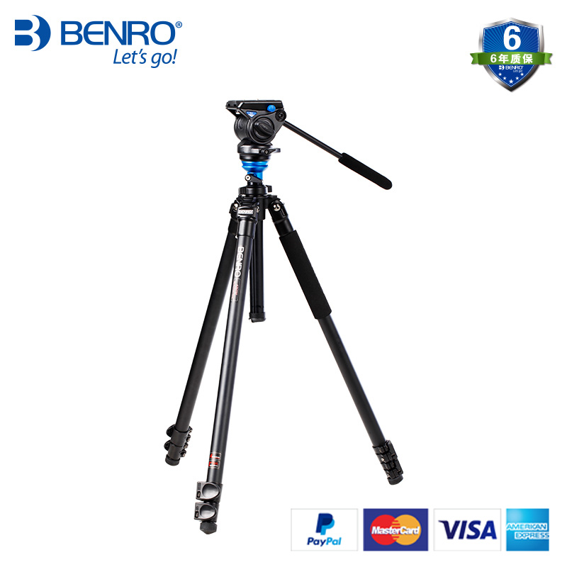 BENRO A2573FS4 Pro Aluminum Tripod Video Tripod Kits With S4 Ballhead Integral Level 3 Section+Carrying Bag Kit, EU duty free цена