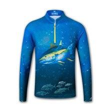 الوقوف طوق طويلة الأكمام الصيد الملابس M 3XL تنفس الرجال قميص لصيد الأسماك المضادة للأشعة فوق البنفسجية الصيد سترة لربيع الصيف