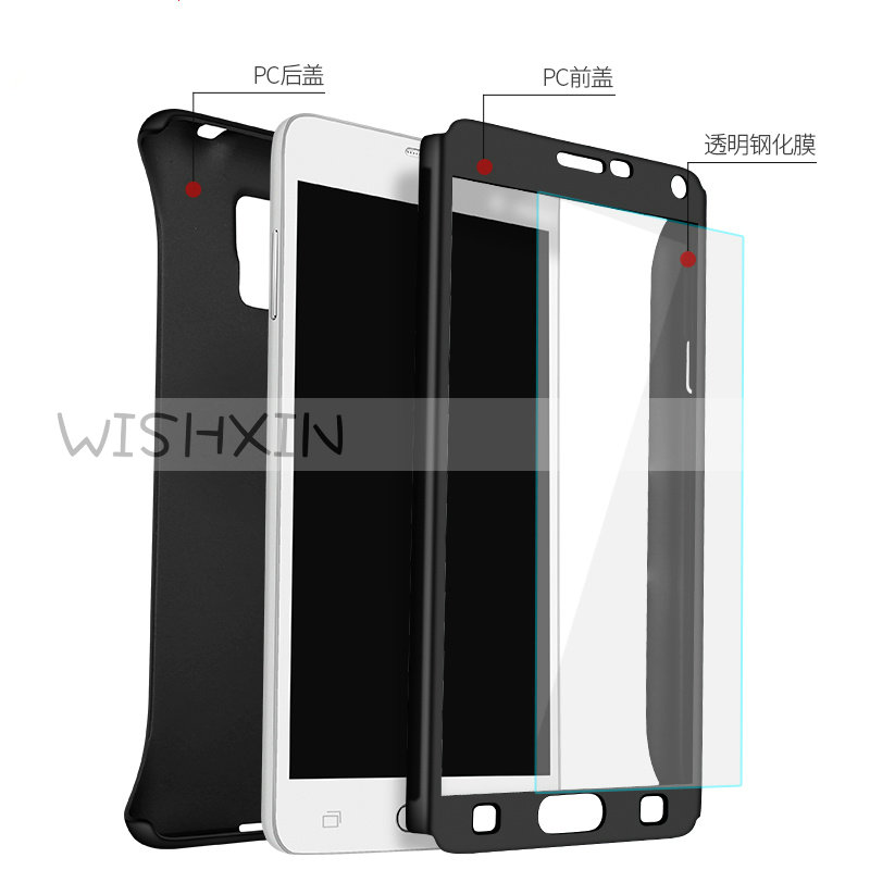 360 Degree Full Cover Cases for Samsung Note 3 N9005 Cover Case with Tempered Glass Coque for Samsung Galaxy Note3 N900 5.7