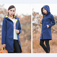 Women Windbreaker 2016 New Softshell Outdoor Fleece Long Women's Jacket Waterproof Windproof Breathable Camping Hiking Coat