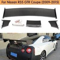 For Nissan R35 GTR Carbon Fiber Rear Spoiler (Included Lights) GT Rear Wing For GTR R35 Body Kit Tuning