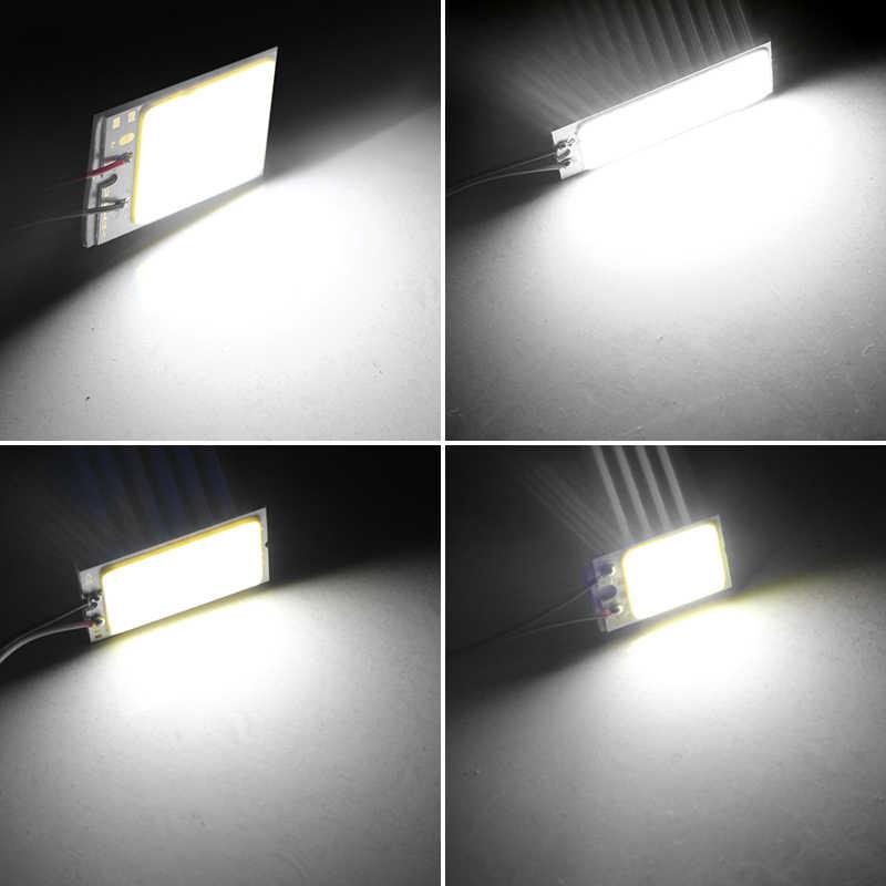 1 ensemble voiture style T10 Cob 24 36 48 SMD voiture Led véhicule panneau lampes Auto intérieur lampe de lecture ampoule lumière dôme Festoon BA9S DC 12V