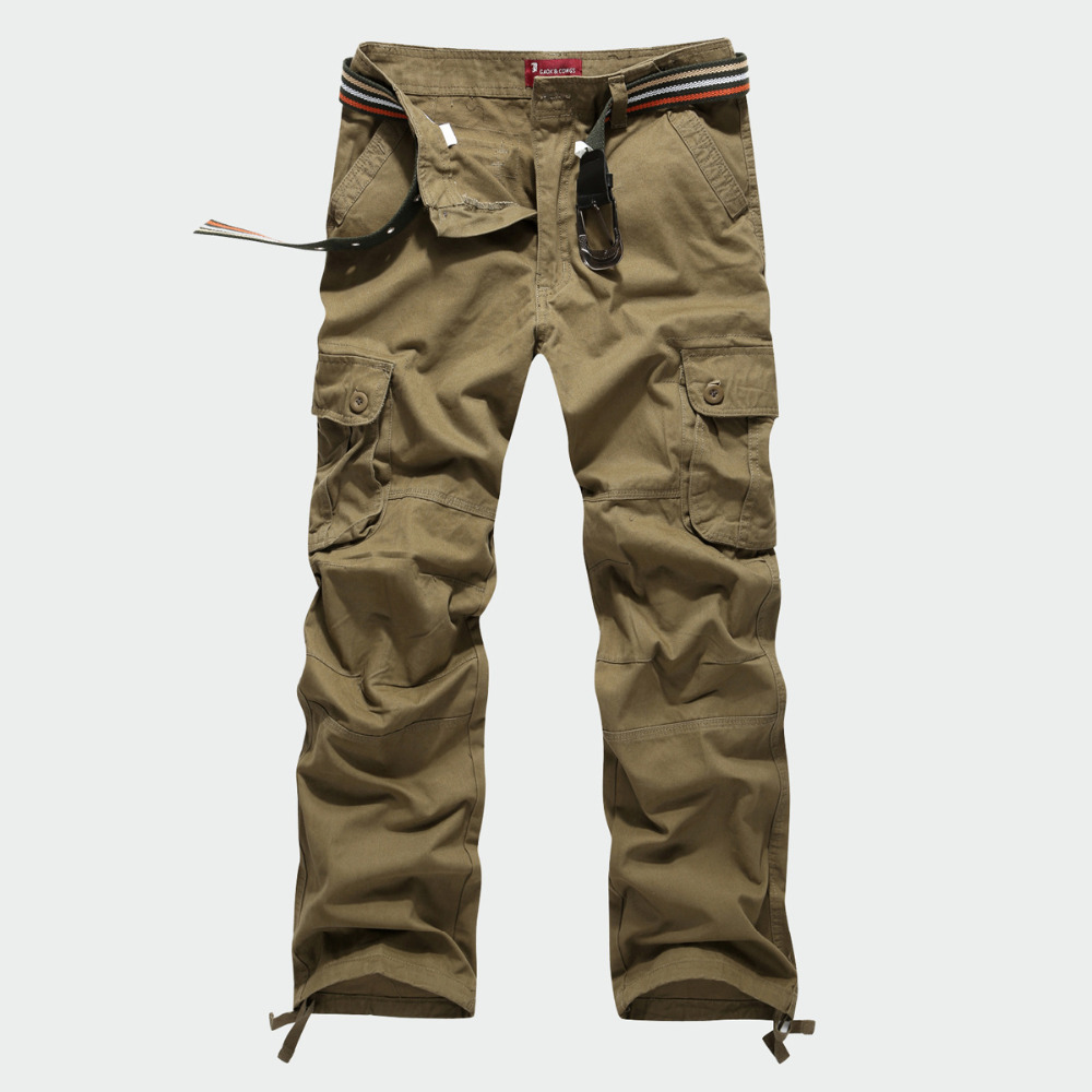 30-44 Plus size High Quality Men's Cargo Pants Casual Men Loose Pants Multi Pocket Military Overall for Men Long Trousers