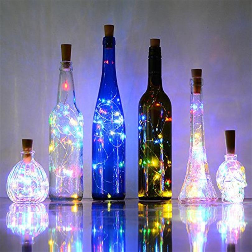 10pcs/lot bottle Led Fairy Lights 2M 20 Leds Battery Operated LED String Light for Xmas Wedding party Decoration