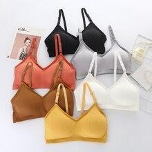 Elegant Bra Sexy Lingerie Push Up Seamless Bralette Comfortable Wire Free Underwear Women Summer Bras Female Solid Color