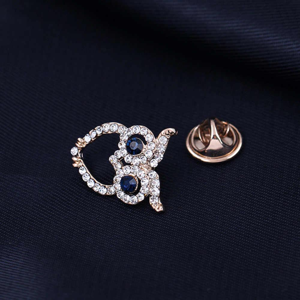 JieyueJewelry Mini Gufo Spilla Camicia Suit Collare Pin Cappello Accessori Regalo Del Partito Unisex Moda Stile Retrò Carino