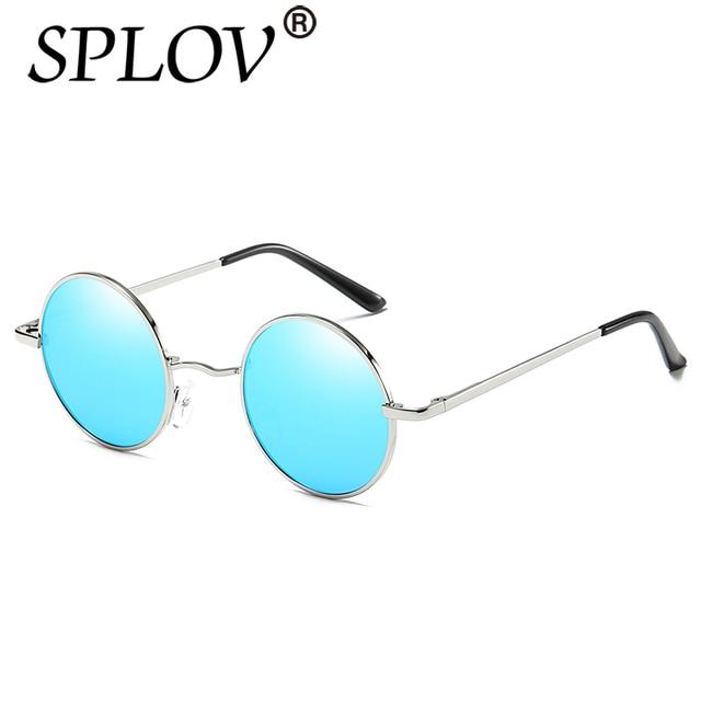 Nouvelle Marque Designer Classique lunettes de Soleil Rondes Polarisée  Hommes Petit Vintage Rétro John Lennon Lunettes fb8782059075
