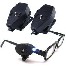 1 шт. мини-зажим светодиодный светильник вращающийся для чтения светильник для очков белый яркий для чтения [товары для дома